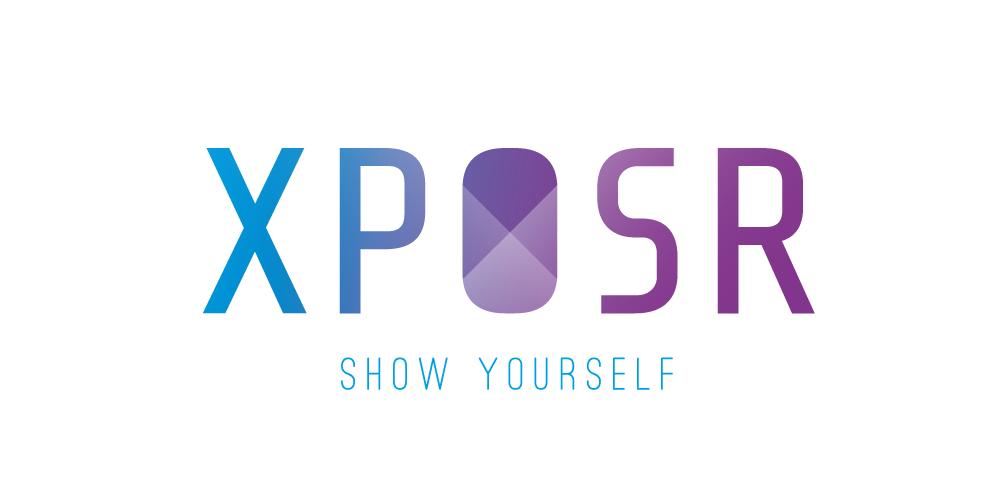 Logo ontwerp XPOSR wit