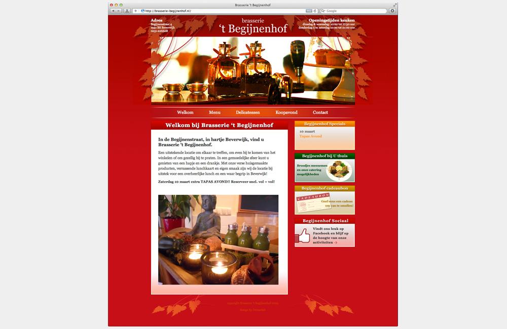 WordPress website Brasserie 't Begijnenhof