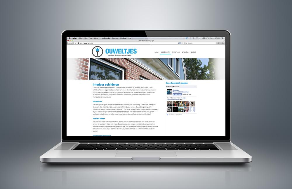 WordPress website ontwerp schilder