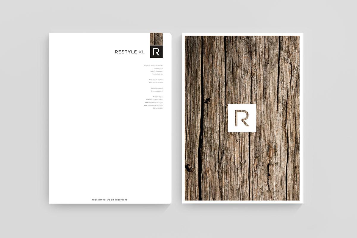 Briefpapier en huisstijl ontwerp Restyle XL