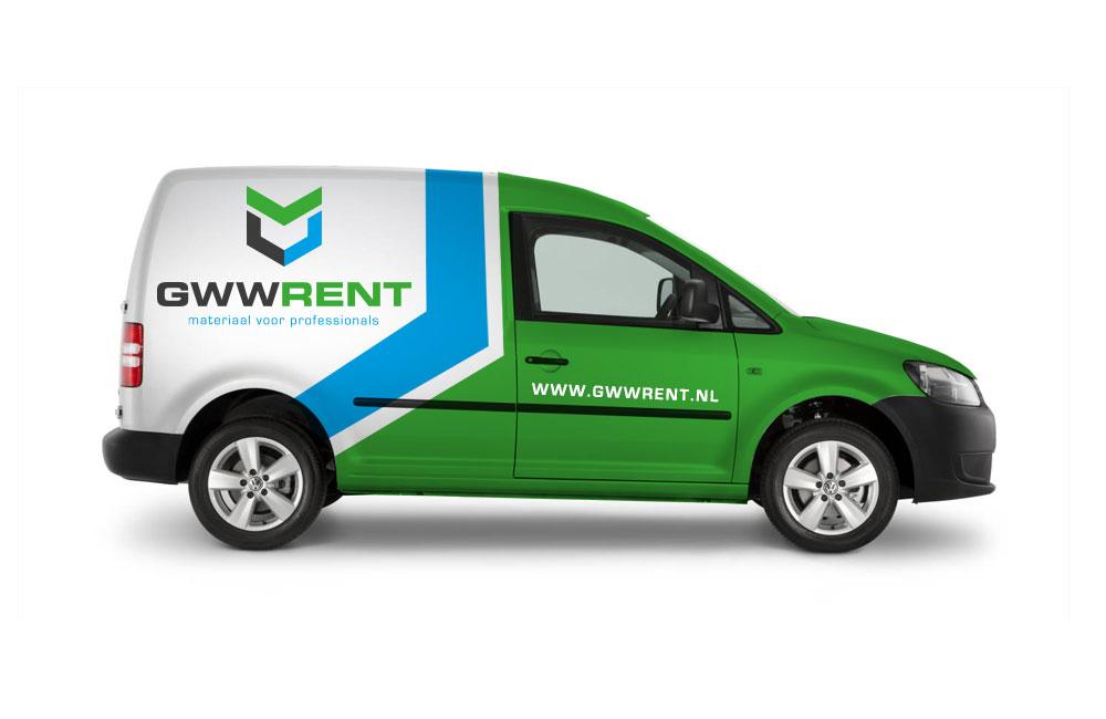 Ontwerp voor de autobestickering van GWW