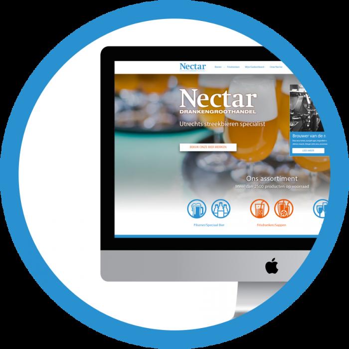 WordPress website webdesign Nectar