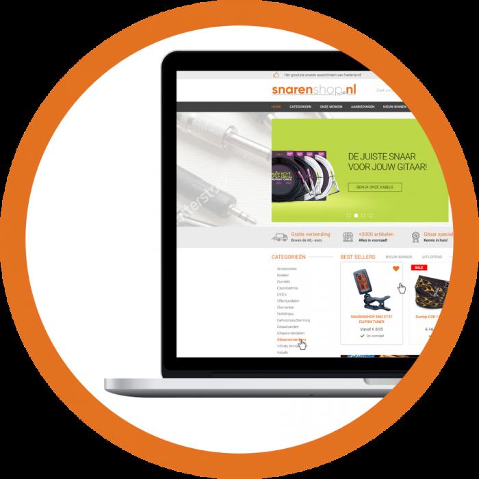WooCommerce webshop webdesign Snarenshop