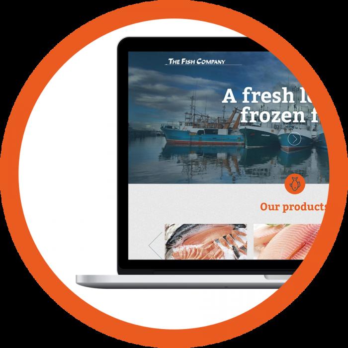WordPress website webdesign portfolio The Fish Company