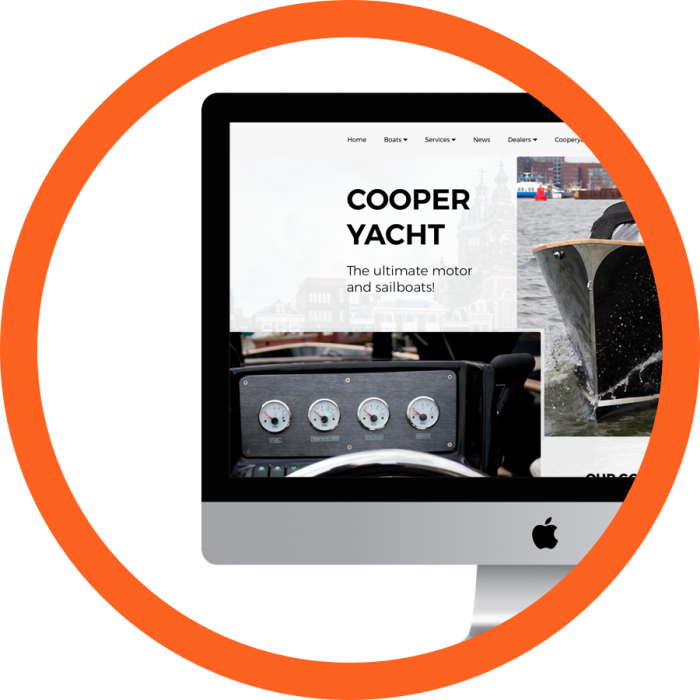 WordPress design Cooper Yachts